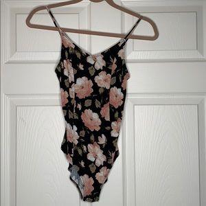 Soft & Sexy   Rib   floral   bodysuit